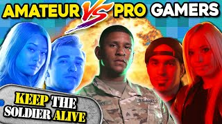 Who Can Keep The Soldier Alive The Longest? (PROS Vs. AMATEURS Ghost Recon)