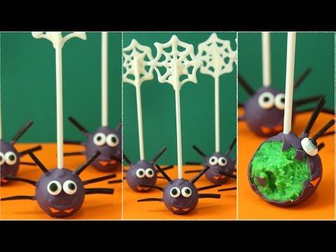 Spider Cake Pops | Zitronen Cake Pops | Halloween-Woche 2016