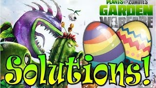 Plants vs Zombies Garden Warfare: Easter Egg Scavenger Hunt SOLUTIONS!