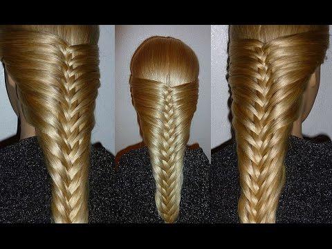 Французская коса-Оригинальная. Причёска для средних, длинных волос.Причёски для девочек в школу
