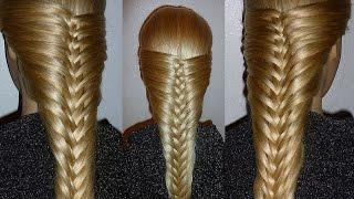 Французская коса-Оригинальная. Причёска для средних, длинных волос.Причёски для девочек в школу(Причёска на 1 сентября.Плетение волос, косичек на средние, длинные волосы. Ажурные косы. Как оригинально..., 2015-04-29T11:06:05.000Z)