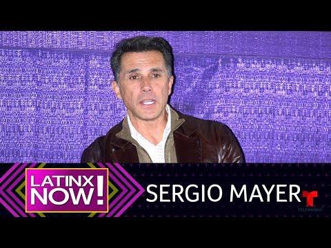 A Sergio Mayer le escupió una alpaca traviesa | Latinx Now! | Entretenimiento