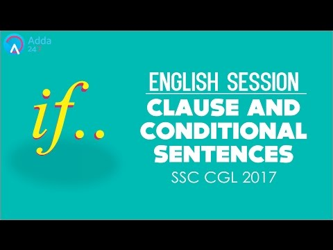 SSC CGL 2017 Preparation | Clause & Conditional Sentences | English | Online SSC CGL Coaching