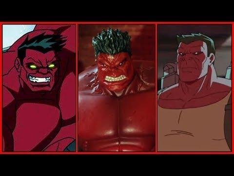 Red Hulk Evolution In Cartoons (Thunderbolt Ross)(2018)