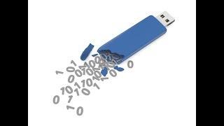 Быстрое уничтожение данных на флешке за 12 секунд. Защита информации.