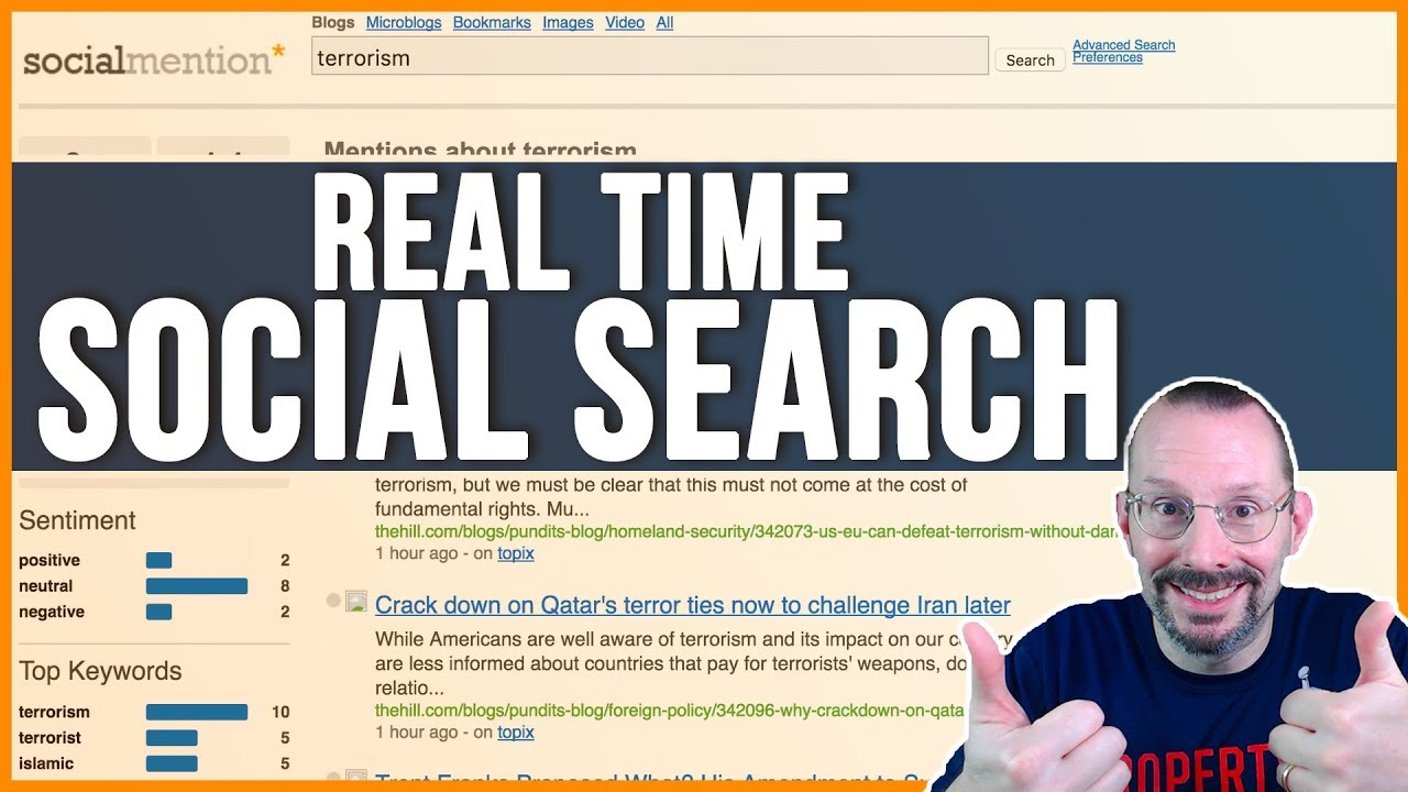 Real Time Social Search Using Social Mention