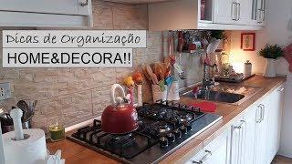 DICAS P/ ORGANIZAR A BANCADA DA COZINHA | HOME & DECORA #vidanaitalia