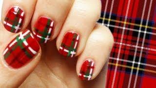 Scottish Kilt Nail Art Tutorial