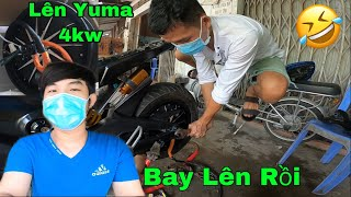 Xe Điện Độ Lên Bánh Yuma 4kw Chạy Pin Và Cái Kết