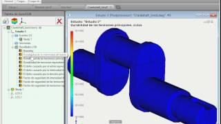 Análisis de fatiga en AutoFEM (el sistema de análisis de elementos finitos)