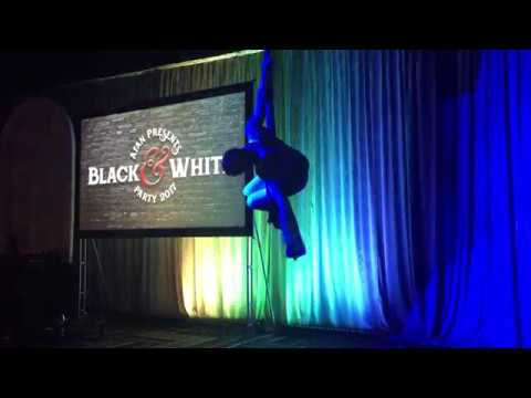 Brandon Scott, Acrobat on Aerial Fabric - 2017 Black & White Party