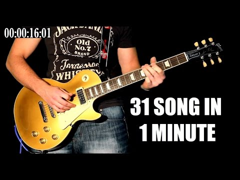 31 Famous Rock Songs In 1 Minute