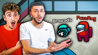 FaZe Rug teaches Brawadis how to play AMONG US... **999 IQ**