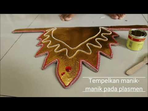 Tutorial Cara membuat kerajinan Mahkota Tari Bali Modern