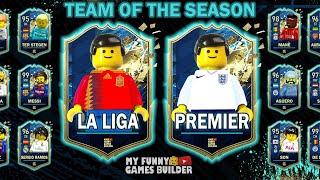 TOTS La Liga vs Premier League in Lego FIFA 20 Team Of The Season in Lego Football Film