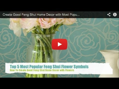 Feng Shui Tips To Decorate With Flowers Youtube