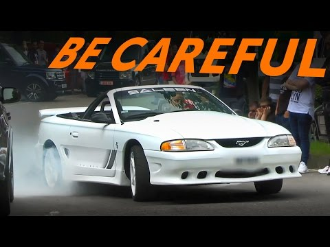 Ford Mustangs CAN Leave A Car Show Without Crashing!