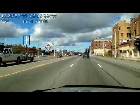 Driving from Detroit, Michigan to Madison Heights, Michigan