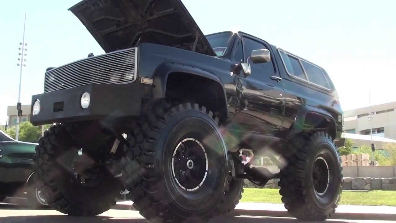Chevy K5 BLAZER with HUGE tires!!! - YouTube