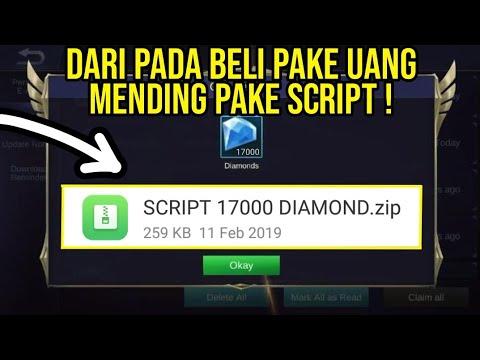 SCRIPT GRATIS 17000 DIAMOND MOBILE LEGENDS !!!