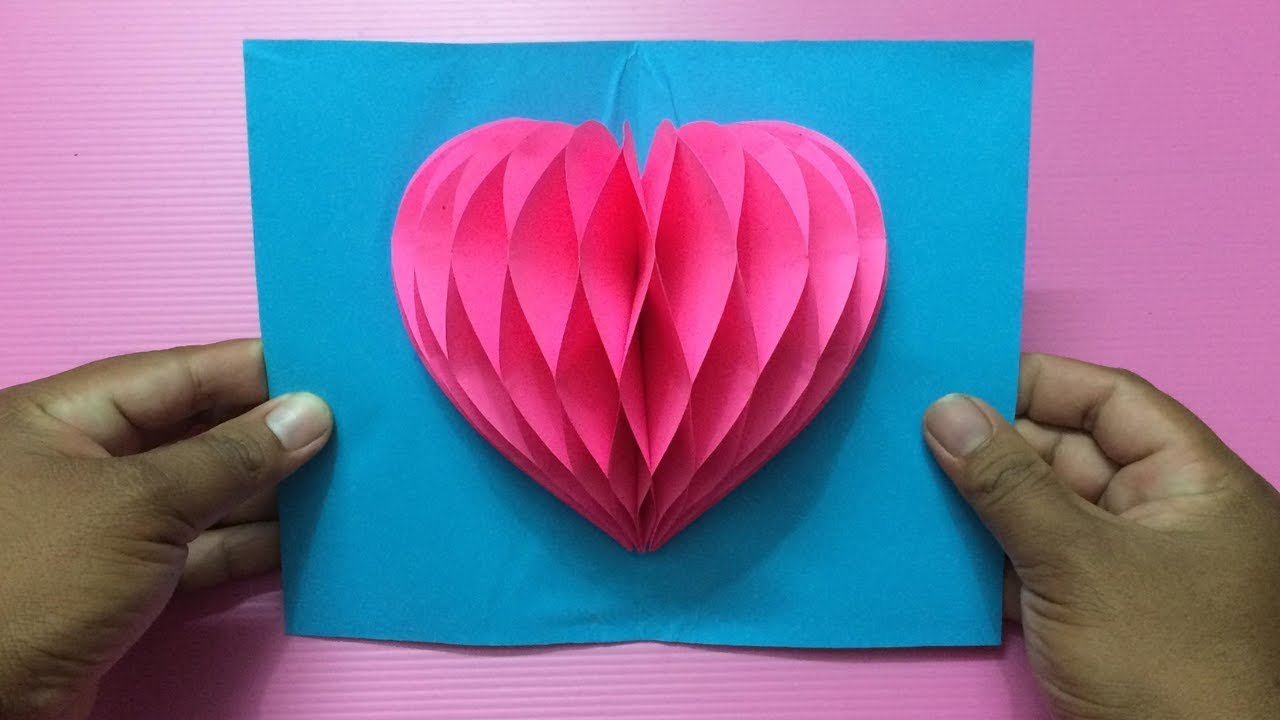 How To Make Heart Pop Up Card Making Valentine S Day Pop Up Cards Step By Step Diy Valentines Cards Diy Handmade Valentines Cards Valentine Cards Handmade