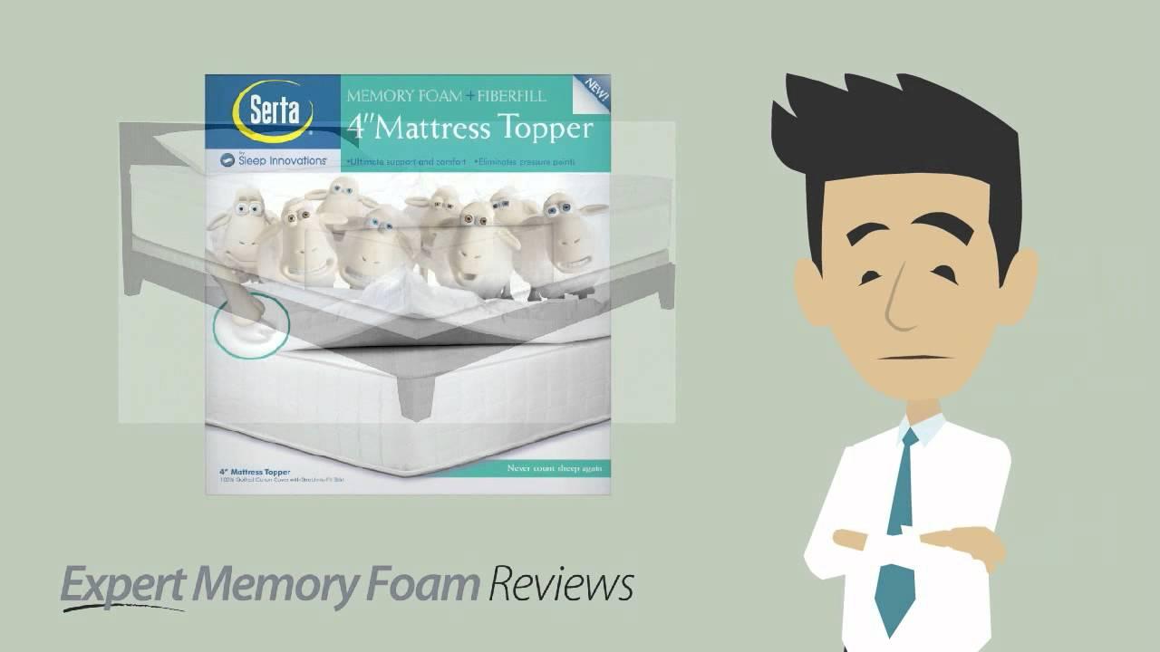serta 4 inch mattress topper Serta 4 inch dual layer memory foam mattress topper | A video  serta 4 inch mattress topper