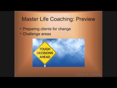 Sample of Master Life Coaching (Module 1) – Dr. Steve G. Jones