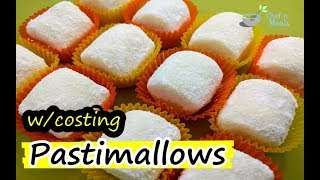 How to Make Pastimallows   Food Business Recipe w/ Complete Costing   Pastillas Marshmallows