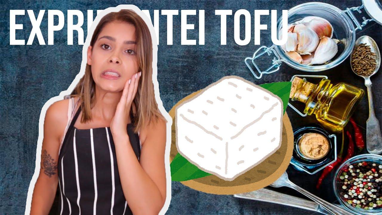 EXPRIMENTEI TOFU PELA PRIMEIRA VEZ| COOKING WITH CLAUDIA
