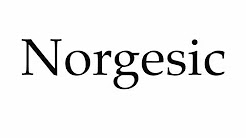How to Pronounce Norgesic