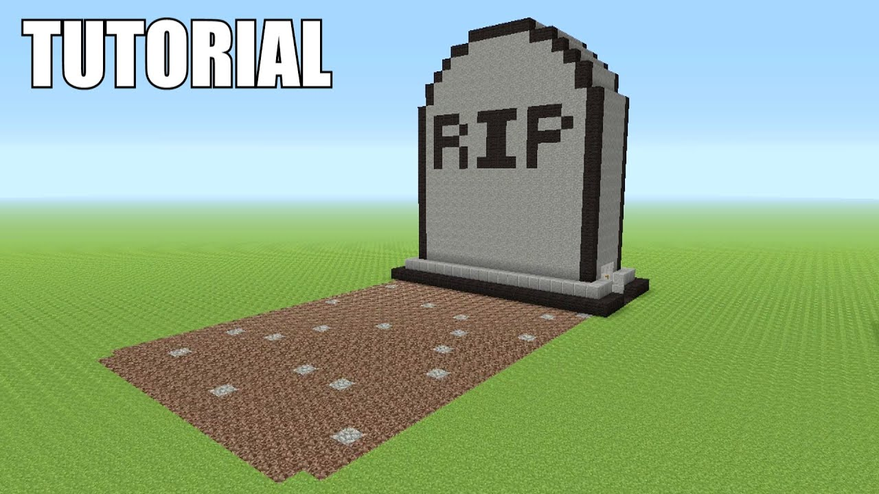 How To Build A Tombstone In Minecraft