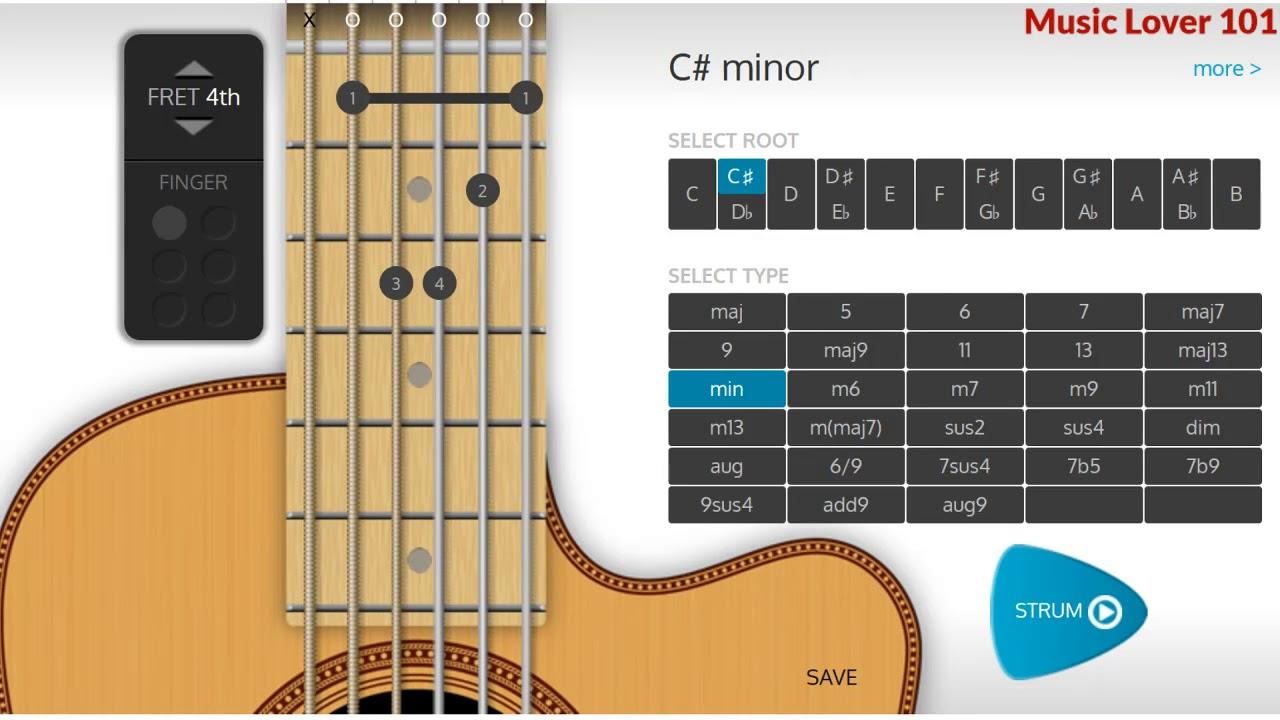 C Minor Or D Flat Minor Chord Guitar Youtube