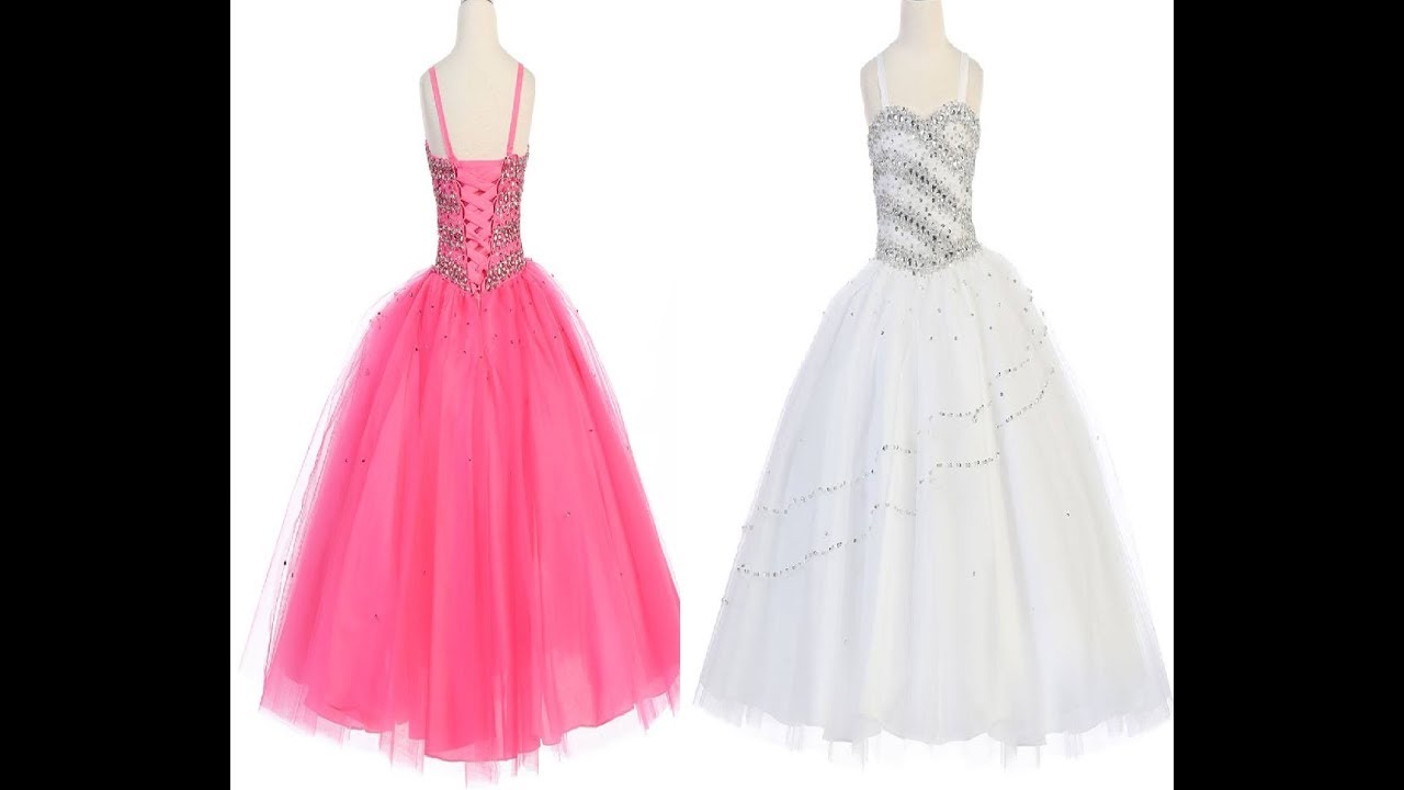 Designer Party Wear Gowns Model || Girl Birthday Dress || Baby Party ...