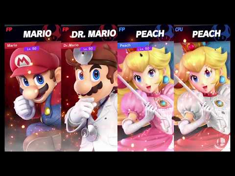Super Smash Bros Ultimate Amiibo Fights   Request #2645 Mario & Dr Mario vs Team Peach thumbnail