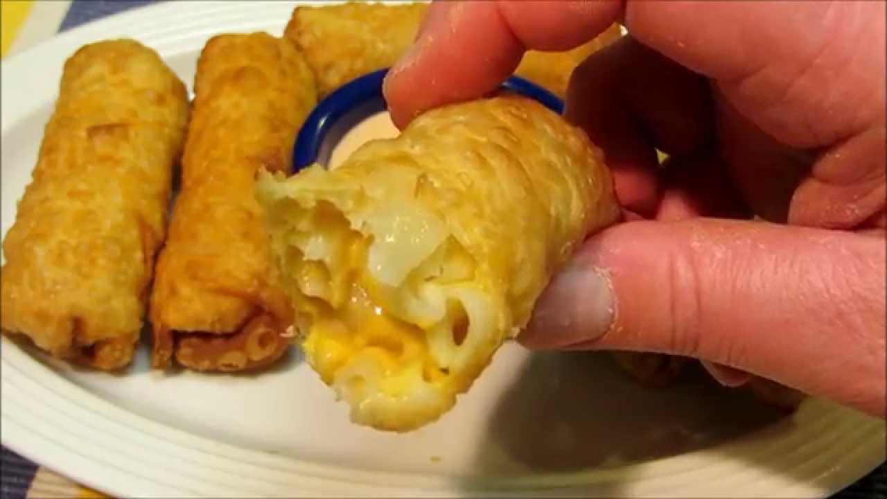 Egg Rolls - Macaroni & Cheese - Mac & Cheese Egg Rolls - YouTube
