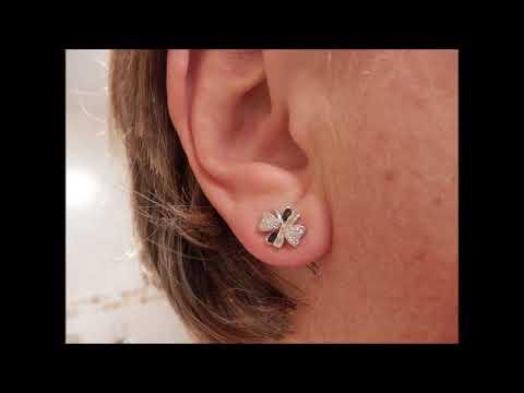B.Catcher Stud Earrings Lucky 925 Sterling Silver Cubic Zirconia Earring Studs swg6TZf