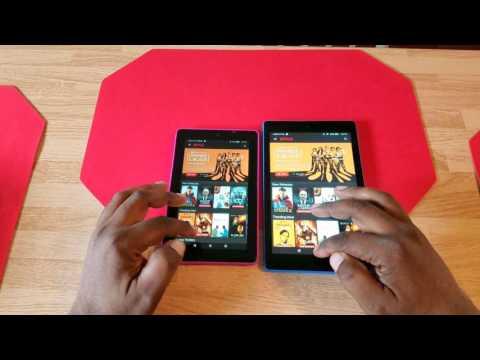 Amazon Fire 7 vs Amazon Fire HD 8 App Opening Comparison