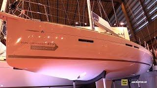 2016 Jeanneau Sun Odyssey 419 Sailing Yacht - Deck, Interior Walkaround - 2015 Salon Nautique Paris