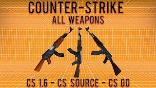 CS GO vs CS Source vs CS 1.6 (All Weapons Compared)