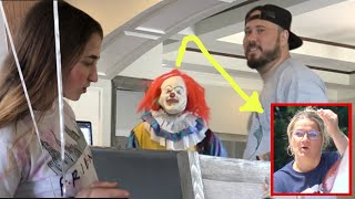 Scary creepy clown prank caught on camera! funny reactions!