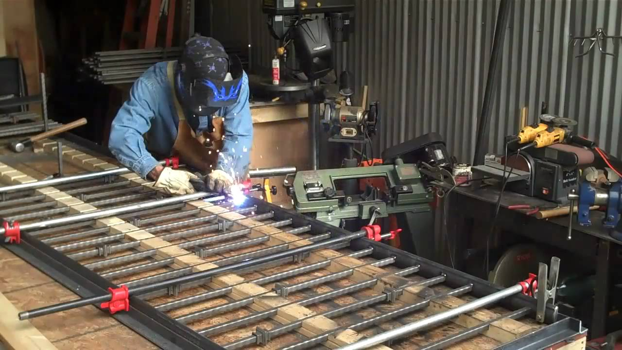 How To Weld Wrought Iron Rails By Mitchell Dillman Youtube