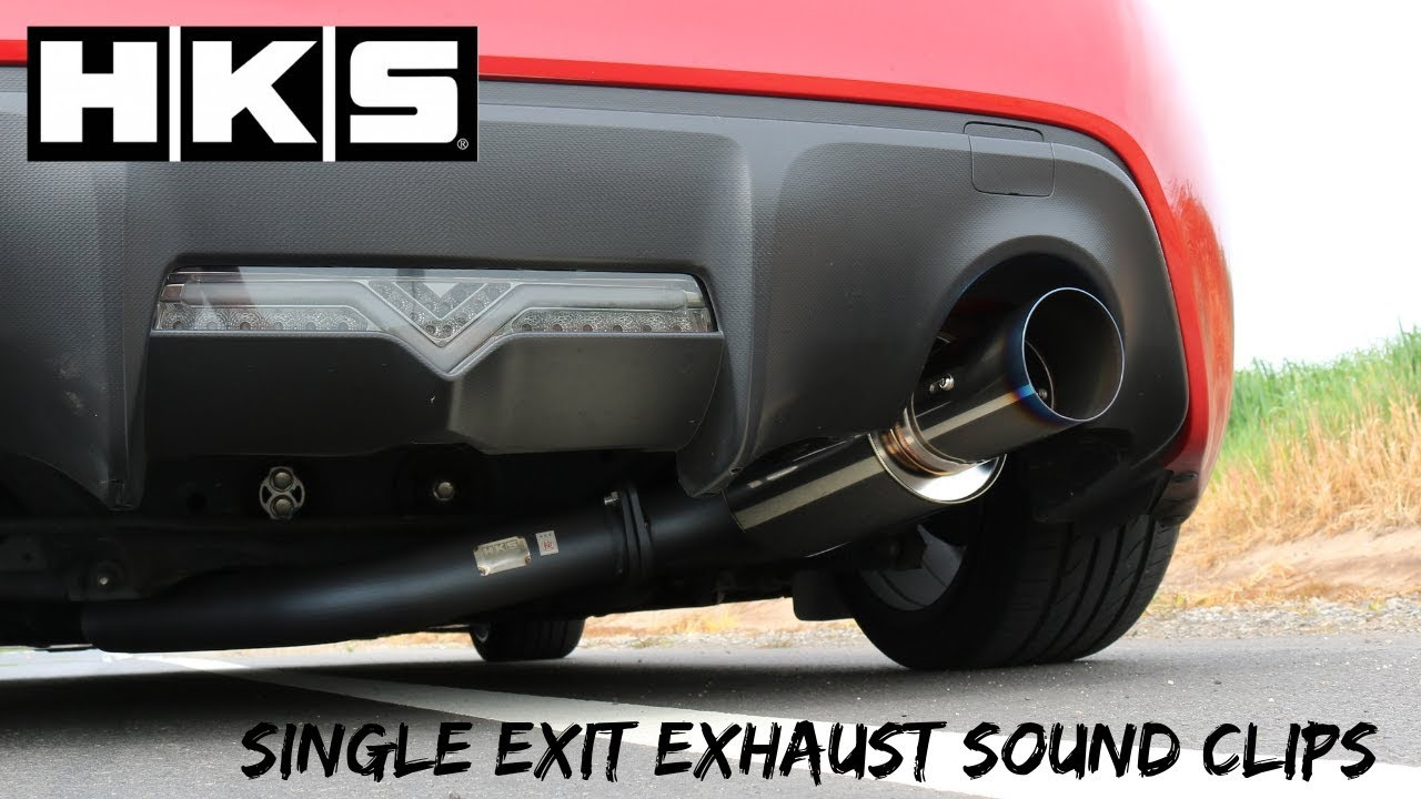 hks single exit exhaust sound clips