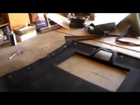 видео: Перетяжка обвисшего потолка на Авто