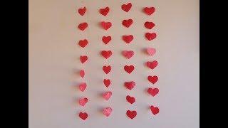 Como fazer cortina de coração simples - DIY PARA INICIANTES