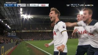 Eriksen's long-range strike puts Tottenham ahead against Crystal Palace