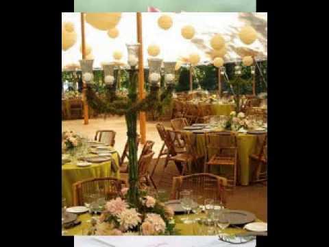 Simple Outdoor wedding decor YouTube