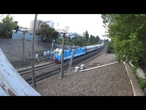 "ЭП1М-673 и 061С, «Эльбрус» Нальчик → Москва [EP1M-673 And 061S, ""Elbrus"" Nalchik → Moscow]"