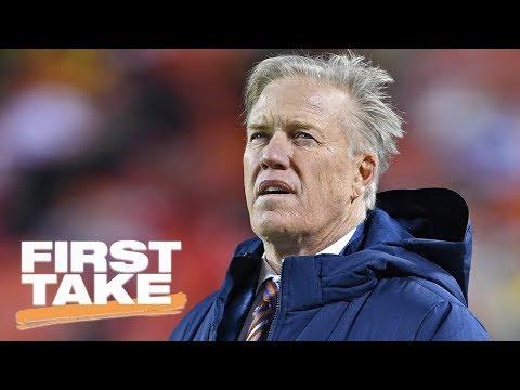 Stephen A. Smith blames John Elway for the 'atrocious quarterback play' | First Take | ESPN