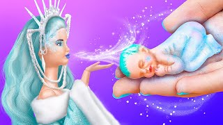 10 DIY Baby Doll Hacks and Crafts / Miniature Ice Baby, Sled and More!