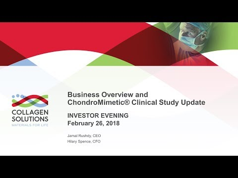 Collagen Solutions (COS) investor presentation 26th February 2018